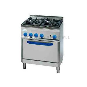 Gas Boiling Top. - 4 Burner - with Electric Oven