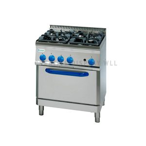 Gas Boiling Top. - 4 Burner - with Gas Oven