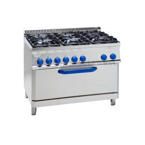Gas Boiling Top- 6 Burner-Electric Oven