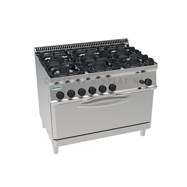 Gas Boiling Top. - 6 Burner - with Gas Oven