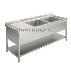 Double Bowl Sink 160cm
