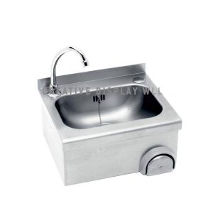 Knee operated Hand Wash Sink with Wall-Mounted