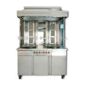 Shawarma Machine Double Unit Free standing
