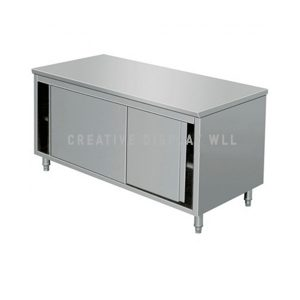 Table Cabinet with Sliding Door 180cm