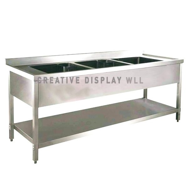 Triple Bowl Sink 180cm